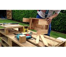 How to build pallet furniture youtube Video