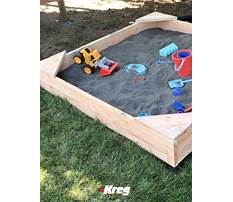How to build sandbox with seats Video