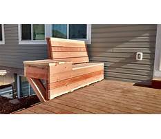 How to build space saving deck benches for a small deck Video