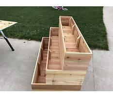 How to build tiered planter box Video