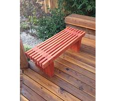 How to build wooden benches for a deck Video