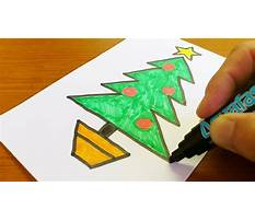 How to draw simple christmas tree Video