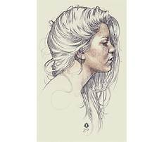 How to draw simple hair in a sideways view Video