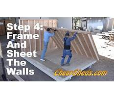 How to frame and sheet the walls for a tall barn and deluxe gable roof shed Video