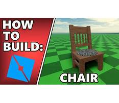 How to make a chair in roblox studio Video