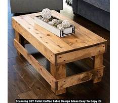 How to make a coffee table from wood pallets Video
