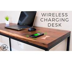 How to make a desk with hidden wireless charging Video