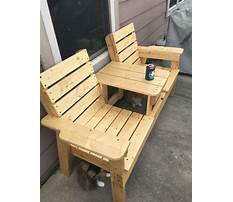 How to make a double chair bench diy patio furniture Video