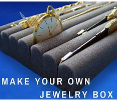 How to make a jewelry box insert Video