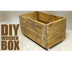 How to make a large wooden box with lid Video