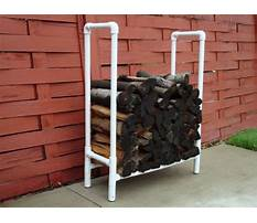 How to make a pvc firewood rack Video