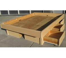 How to make a queen size bed frame with storage Video