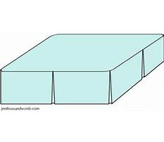 How to make a queen size box pleated bed skirt Video