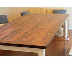 How to make a reclaimed wood table top Video