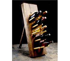 How to make a recycled wine rack Video
