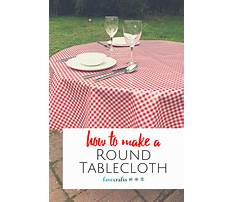 How to make a round tablecloth Video