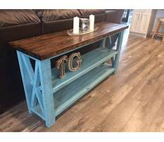 How to make a rustic sofa table Video