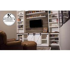How to make a sliding barn door entertainment center faux barn wood floating shelf Video