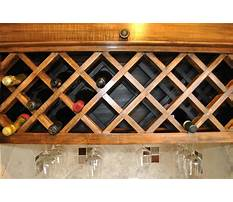 How to make a wine rack under a cabinet Video