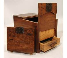 How to make a wooden box with door Video