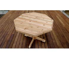 How to make a wooden patio table Video