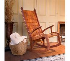 How to make a wooden rocking chair more comfortable Video