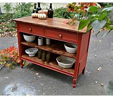 How to make an old dresser into a kitchen island Video