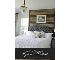 How to make an upholstered bed headboard Video