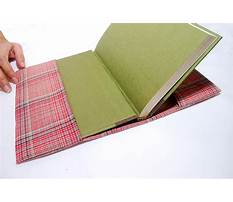 How to make fabric book sleeves Video