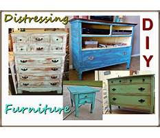 How to make furniture look vintage with paint Video