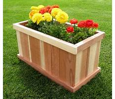 How to make large wood planters Video