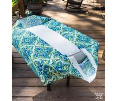 How to make outdoor bench cushion cover Video