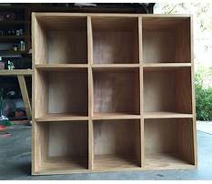 How to make storage cubbies Video