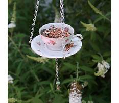 How to make tea cup bird feeders on poles Video