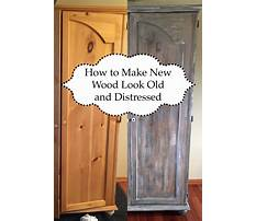 How to make wood furniture look distressed Video