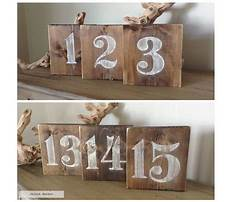 How to make wood table numbers Video