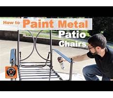 How to paint metal patio chairs by home repair tutor Video