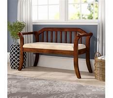 Indoor decorative wooden benches Video