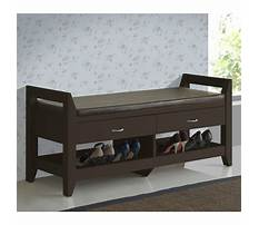 Indoor wooden storage bench seat with drawers Video