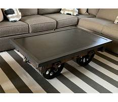 Industrial cart coffee table images Video