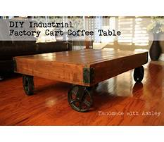 Industrial cart coffee table plans Video