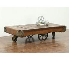 Industrial cart coffee table with wheels Video