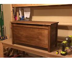 Instructions to build a wooden toy box Video
