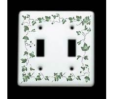 Ivy porcelain two rocker wall plate cover Video