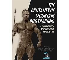 John meadows mountain dog training pdf.aspx Video
