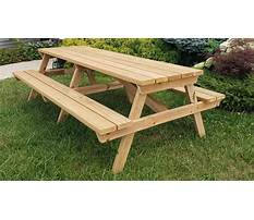 Kids wooden picnic table plans Video