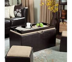 Large coffee table storage ottoman Video