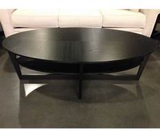 Large round black coffee tables Video