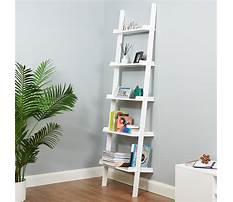 Leaning wall ladder shelf Video