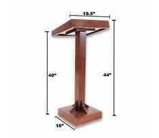 Lectern building plans Video